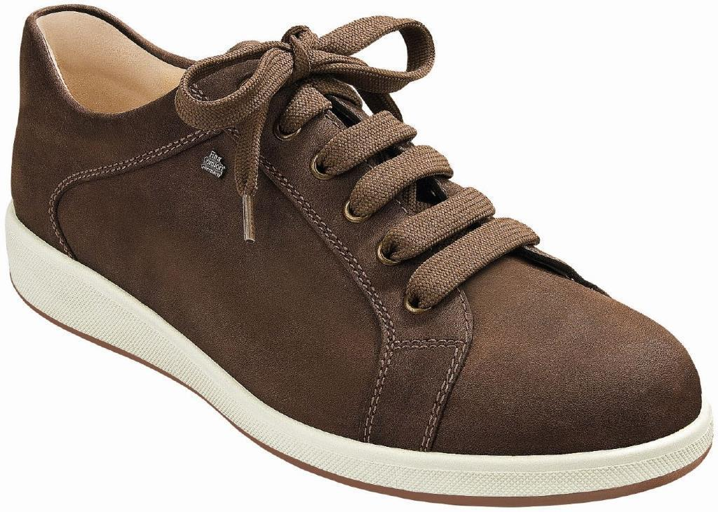 FINN COMFORT SHOES BRADFORD WOOD BROWN CHEROKEE LEATHER MEN'S LACE UP MAN