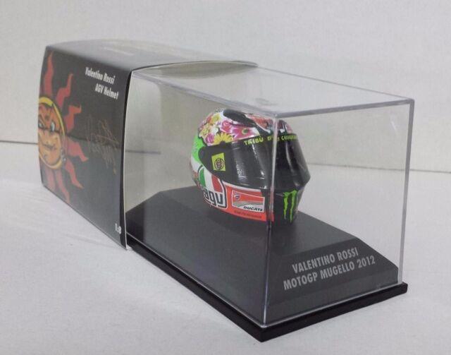 """MINICHAMPS VALENTINO ROSSI AGV CASCO HELMET 1/8 GP MUGELLO 2012 """"MORANDI"""" DUCATI"""
