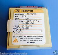 Tx12r0j California Micro Devices Resistor Thin Film Rockwell 205/units