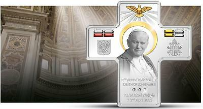 Todestag Von John Paul Ii Karol Wojtyla 10 5$ 2015 Cook Islands