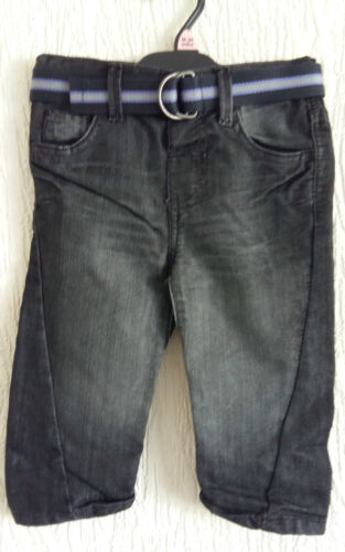 Baby boys jeans with belt new in bag 12-18 MTHS REDUCED TO CLEAR