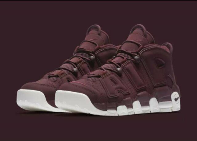 Men's Nike Air More Uptempo '96 QS Burgundy Maroon Bordeaux 921949 600 Size 8.5