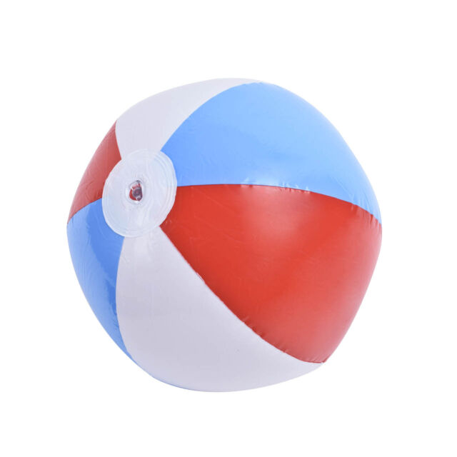 Water Play Toy Summer Beach Ball Swimming Pool Inflatable Rainbow Ball Lovely