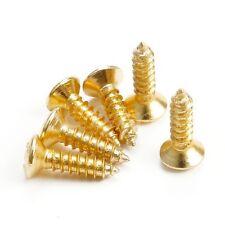 20 Tornillos dorados para golpeador guitarra - 20 Gold pickguard screws