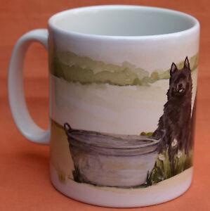 SCHIPPERKE-DOG-MUG-OFF-TO-THE-DOG-SHOW-WATERCOLOUR-PRINT-SANDRA-COEN-ARTIST