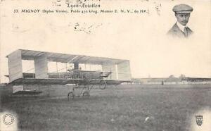 CPA-LYON-AVIATION-BIPLAN-VOISIN