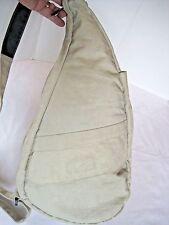 AMERIBAG Healthy Back Bag Medium Tan Khaki Nylon Crossbody Sling Purse EUC