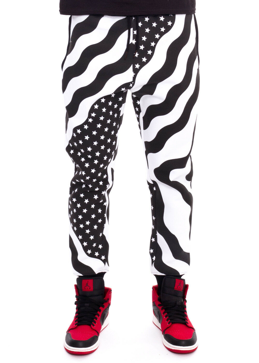 Mens Stars And Stripes Jogger Pants By Hudson NYC Size S