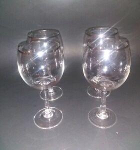 Four-Vintage-Silver-Rim-Wine-Glasses