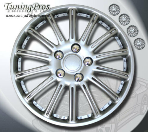 """Rims Cover Wheel Skin Covers 15/"""" Inches ABS Plastic Hubcap 4pcs Style #B007"""