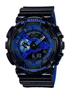 Casio-G-SHOCK-Nero-Quadrante-Blu-Orologio-Da-Uomo-Cronografo-Allarme-GA-110LPA-1AER-140