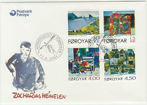 Faroe-Islands-2001-Art-Paintings-by-Zacharias-Heinesen-to-15Kr-First-Day-Cover