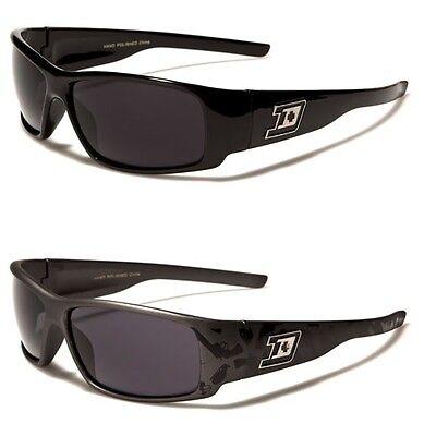 NEW Locs Rectangle Men/'s Black Driving Wrap Sport Sunglasses UV400 LOC9096