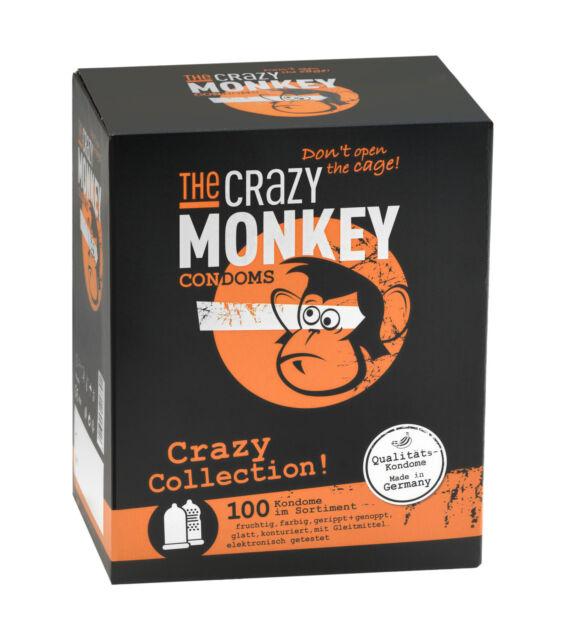 The Crazy Monkey Condoms Crazy Collection, 100er Karton