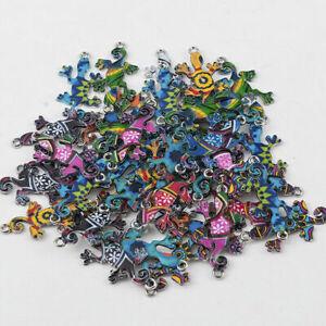 10Pcs-Mixed-Color-Mini-Cute-Gecko-Connectors-Crafts-DIY-Necklace-Jewelry-Making