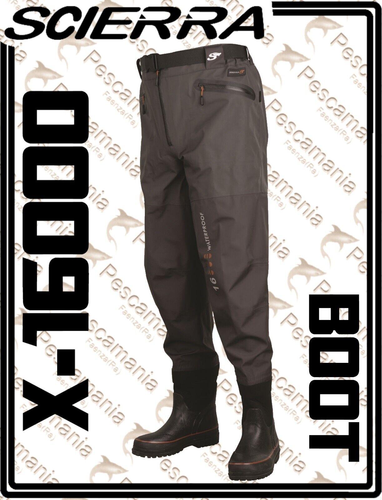 Wader Scierra X16000 3 capa Pantalones transpirables con bota