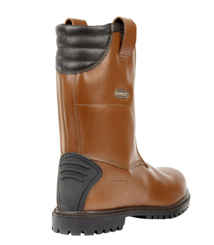SAMSON  waxy leather rigger boot with ankle support /& Kick plate S3 HRO SRC