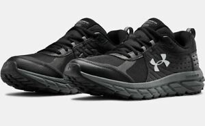 543eadf933 Men's Under Armour UA Charged Toccoa 2 Running Shoes - Black/Black ...