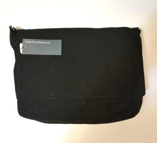 Perry Ellis Portfolio Canvas Messenger Bag