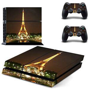 To Adopt Advanced Technology #0122 Eiffel Tower Dependable Sony Ps4 Console And Controller Skins / Decal