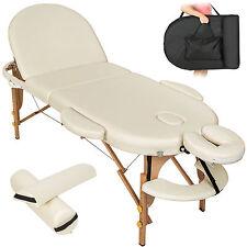 Table de massage cosmetique lit de massage reiki oval beige + accessoires set3