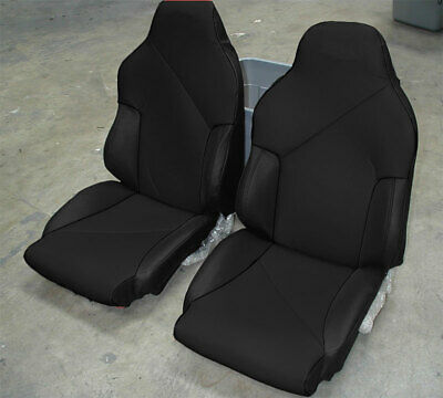 CHEVY CORVETTE C4 TYPE3 1984-1993 BLACK//RED S.LEATHER CUSTOM FIT SEAT COVER