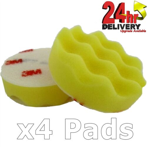 "3M Perfect-it III Polishing Pad Yellow 50536 3/"" 75mm Pack of 4 Pads"