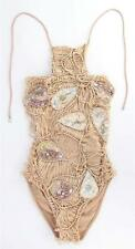 ROSA CHA ONE PIECE SWIMSUIT WITH HANDMADE EMBROIDERY DETAIL SIZE S