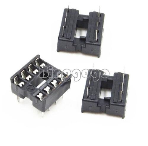 20Stks NEU 8pin DIP IC Socket Adaptor Solder Type Socket Pitch Dual Wipe Contact