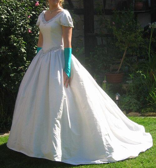Damenkleid Ballkleid Abendkleid Prinzessinnenkleid weiß dunkelgrün