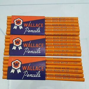 36-New-VINTAGE-WALLACE-PENCILS-3-DOZEN-Young-Writer-IN-ORIGINAL-PACKAGE