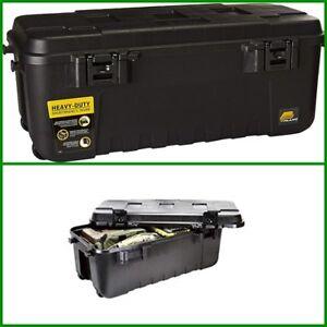 Pickup Truck Bed Storage Tool Box Black Garage Trailer Trunk Chest