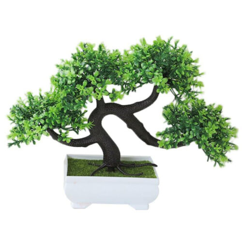 Housewarming Gift Artificial Pine Tree Bonsai Fake Potted Plant Home Decoration