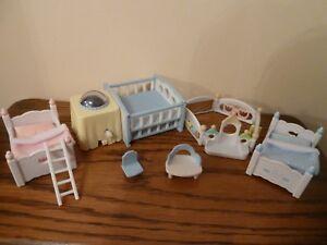 Image Is Loading Sylvanian Families Nightlight Nursery Set Rotating Working Light