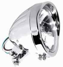 "5-3/4"" H4 Scheinwerfer Chrom Custom Klarglas für Ducati Yamaha Chopper"