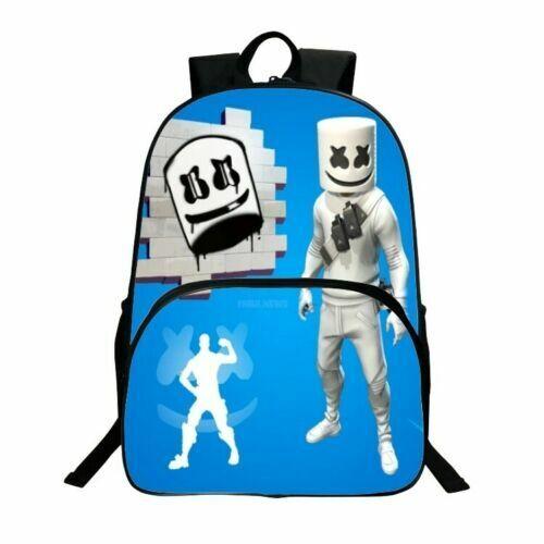 DJ Marshmello 3D Printed Knapsacks Unisex Students Schoolbag Travel Bag Rucksack