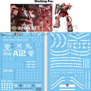 Water Decal Sticker for Bandai MEGA Size 1/48 MS-06S Char s Zaku II Gundam Model