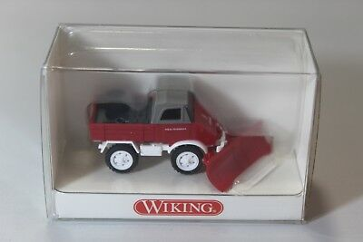 Wiking 1//87 Nr.861 07 28 Unimog 411 mit Schneepflug Feuerwehr OVP #3048