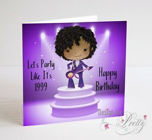 Prince Birthday Card Husband Boyfriend Wife Girlfriend Purple