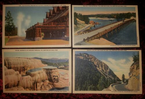 10 Vintage Postcards YELLOWSTONE NATIONAL PARK WYOMING