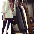 New Korean Women Ladies Casual 3/4Sleeve Blouse Shirt Tee T-Shirt Tops