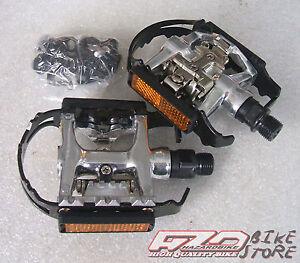 Pedali-Bici-MTB-Corsa-sgancio-DOPPIO-USO-compatibili-SPD-Shimano