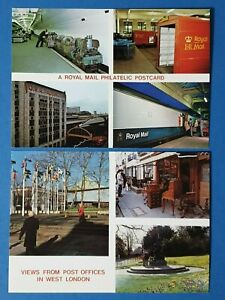 Postcards-2-x-1980s-Royal-Mail-Philatelic-and-Post-Office-West-London-Cards-BX0