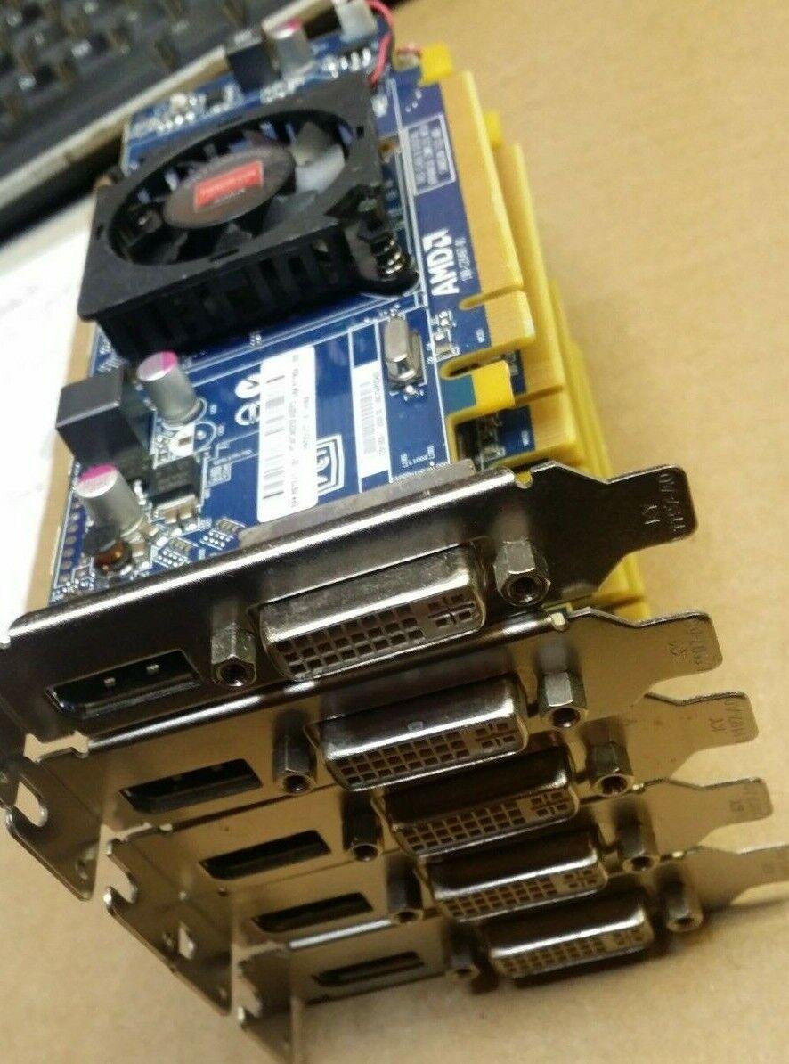 5x HP 697247-001 AMD Radeon 1GB PCI-E HD 7450 Graphics Card Low Profile
