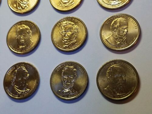 1 Each President 2007-2011 Volume 1 Set $1 First 20 Circulated Dollar Coins