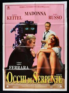 Werbeplakat Augen Von Snake Ferrara Madonna Keitel Russisch Dangerous Game M324