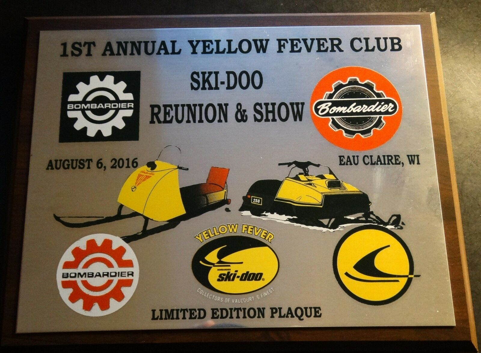 2016 SKI-DOO REUNION 1ST ANNUAL LIMITED  EDITION COLLECTOR PLAQUE NEW  with cheap price to get top brand