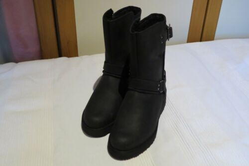 Biker Maddox Uk Australia Bnib Boots Us Rrp 3 36 5 Eur Ugg Black Leather 5 1Ig5wxBqq