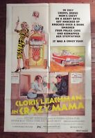1975 Crazy Mama 1-Sh Movie Poster 27x41 VG/FN Cloris Leachman, Stuart Whitman