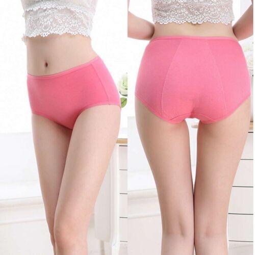 3Pcs Leak Proof Menstrual Women Underwear Period Panties Seamless Briefs L-5XL